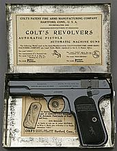 Very Rare Colt Model 1903 Hammerless Pistol With Factory Japanned Tin Shipping Box