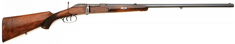 German Single Shot Bolt Action Stalking Rifle By Bartels & Buttner