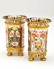 Pair of Royal Crown Derby 'Imari' spill vases, eac