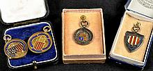 A group of four early 20th Century football medals