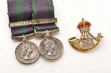 A Durham Light Infantry sweetheart brooch, in yell