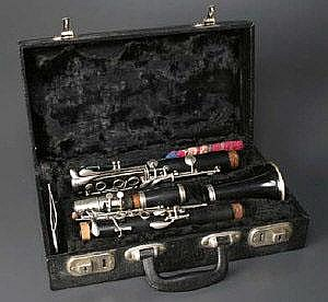 A King Lemaire clarinet, No. 29936, contained in