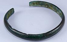 Age du bronze - Bracelet en bronze ciselé
