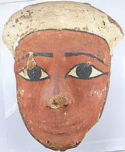 Egypte - Basse époque - Masque de sarcophage en bois - 9ème siècle av. J.-C.