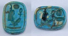 Egypte - Basse époque - Scarabée en fritte - 633-332 av. J.-C. - (26-30ème dynastie)