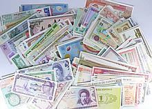 Monde - Lot de 1017 billets du monde