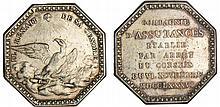 Jeton - Louis XVI (1774-1792) - Compagnie d'Assurances Incendie La Royale 1786 Paris