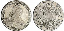 Russie - Catherine (1762-1796) - Rouble 1775 (Saint-Petersbourg)