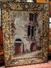 Early Framed Needlepoint Tapestry (Madiera, Portugal) CHISTOPHER COLUMBUS