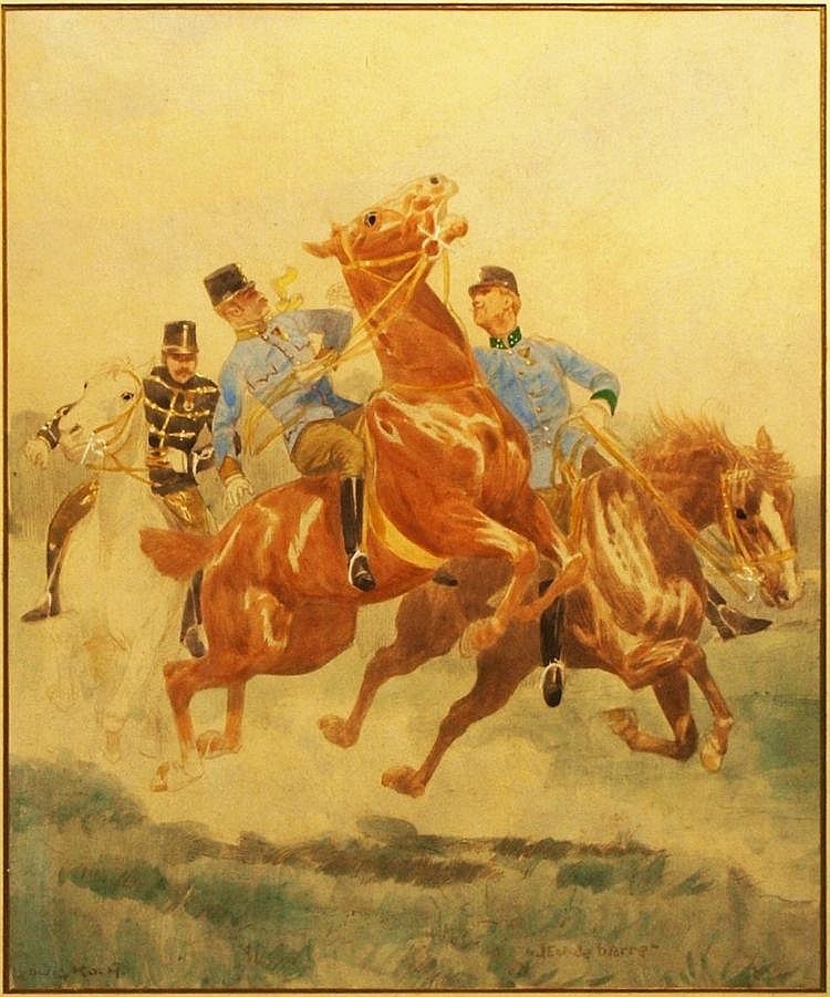 Officers on Horseback, Ludwig Koch