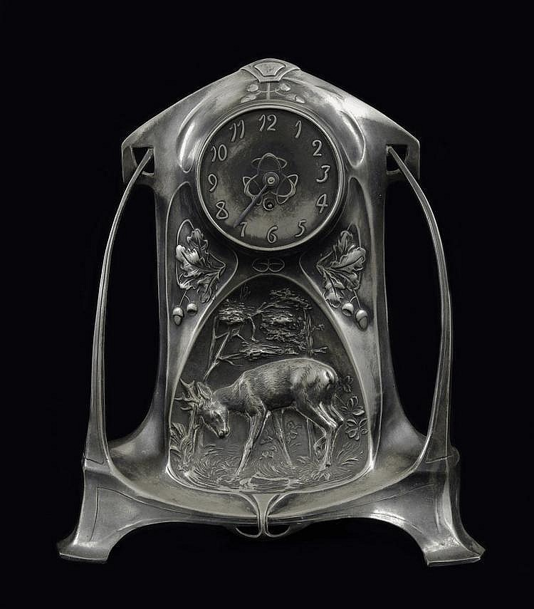 Art Nouveau table clock