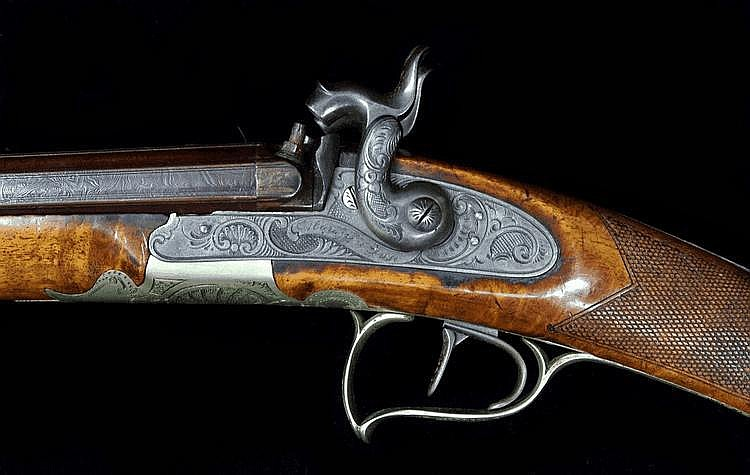 A Percussion Double-barrelled Shotgun