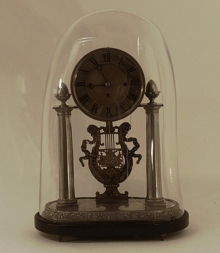 A Biedermeier Commode Clock