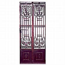 Classic Pair of Antique French Wrought Iron Entry Doors