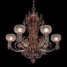 Fantastic 19th Century Chandelier withGlobes