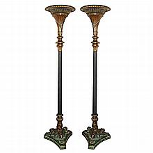 Pair of 19th Century Egyptian Revival Torcheres