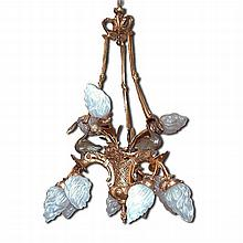 12 Light French Empire Chandelier with Swans Ties