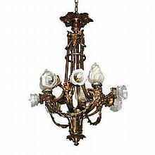 Fabulous  19th Century French Bronze Chandelier