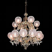 18-Light Two-Tier Gasoiler Chandelier