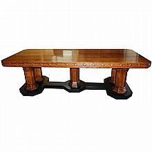 Superb Antique 19th Century American Quartersawn Oak Conference Table