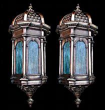 Fantastic Pair of 19th Century Bronze Lanterns