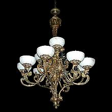 19th Century Napoleon III Bronze 11-Light Chandelier