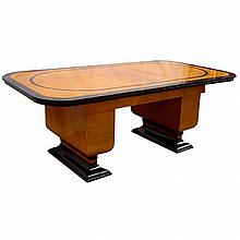 Spectacular American Art Deco Table or Desk with Leaves c. 1930