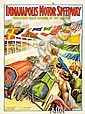 Indianapolis Motor Speedway 1909 Inaugural Race Poster;