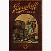 Breweriana; Berghoff Beer 1887 wood panel sign, bar advertising;