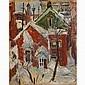 Frank Perri, (Italian/American; 1918 - 1999), Winter Scene, oil, 15 1/8