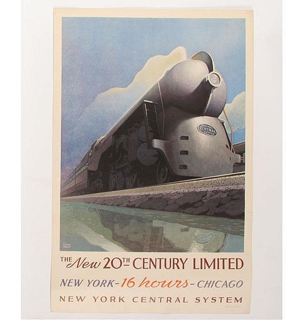 Leslie Ragan 20th Century Limited Travel Poster