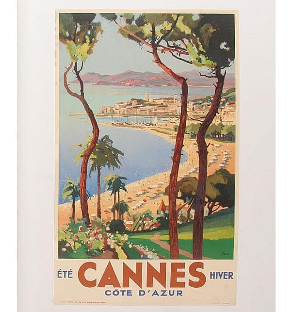 Lucien Peri Travel Poster of Cannes: Cote d' Azur