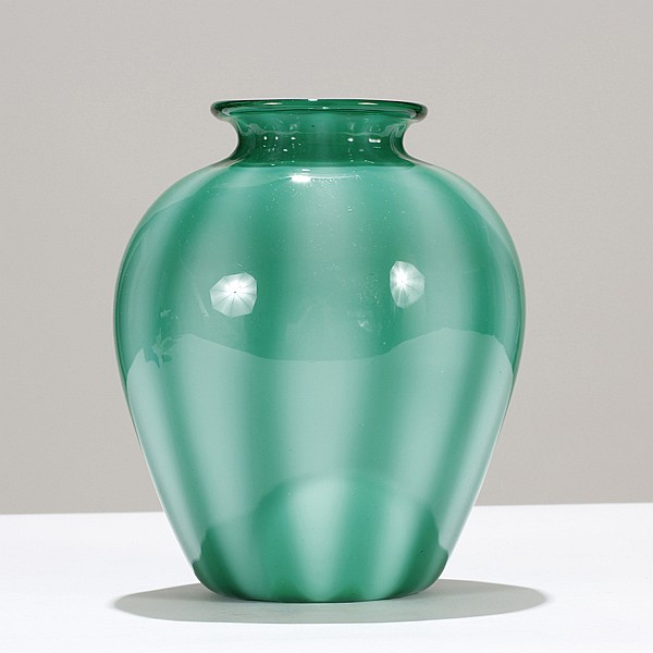 Nice Murano Incamiciato vase, probably by Barovier, c.1935.