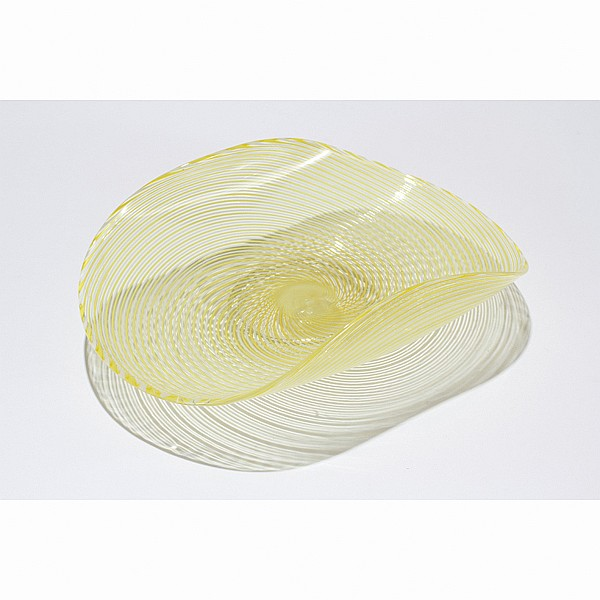 Murano glass scoop sided plate.