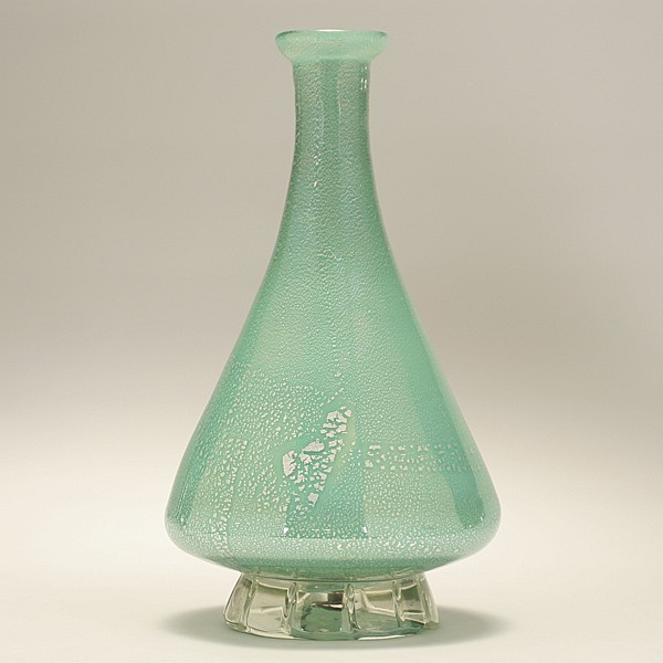 Murano glass lamp base, possibly by AVEM, c.1950.