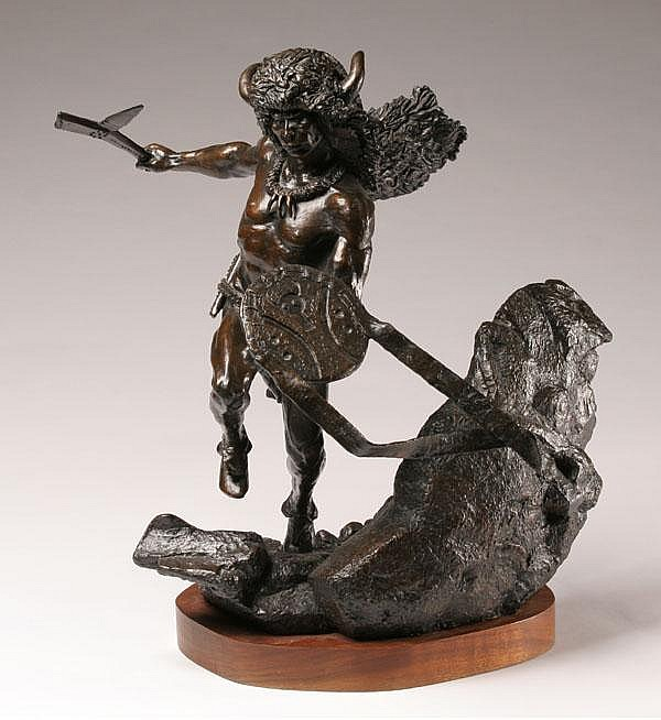 Kevin Mccarthy Native American Bronze Sculpture