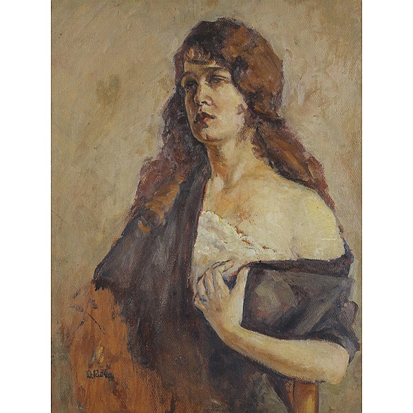 Dorothy Rutka, (1907 - 1985), Portrait of a young woman, Oil on board, 28