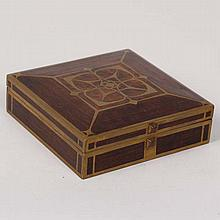 German Secessionist brass inlay and rosewood box