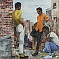 Shirley Lee Bolton, (African American; 1945 - 1984), Urban Scene, Oil on canvas, 32