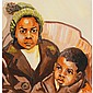Richard Williams, (African American; 20th C.), Two Children, Watercolor on paper, 16.25