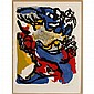 Karel Appel, (Dutch, 1921-2006), Composition 1958, color lithograph on Arches paper, Sheet; 30 1/4