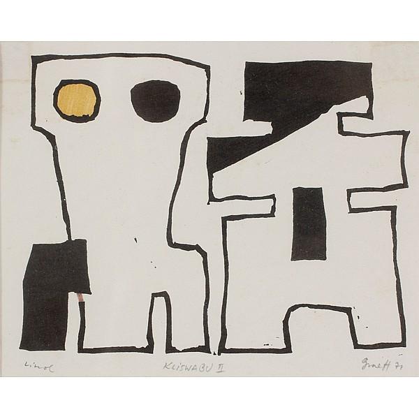 Werner Graeff, (German; 1901 - 1978), Kliswabu II, linocut, 4