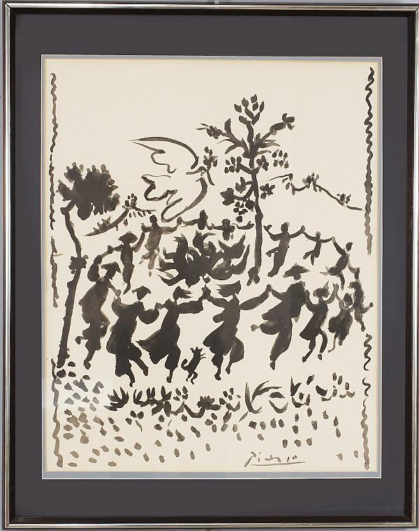 Picasso La Danse vintage lithograph.