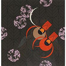 Charley Harper, American (1922-2007), Redbirds and Redbuds (1980), Screenprint on paper, 22 1/2