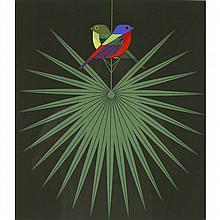 Charley Harper, American (1922-2007), Flamboyant Feathers (1974), Screenprint on paper, 22 1/2