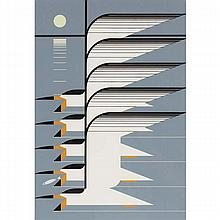 Charley Harper, American (1922-2007), Skimmerscape (1976), Screenprint on paper, 29 3/4