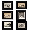 Kent Hagerman, (American, 1893-1978), collection of six prints. Horse racing, O'Hare airport, WWII airplane, speedboat, Chicago, ind..