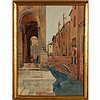 Manner of John Singer Sargent, Venice canal scene, watercolor, unsigned,