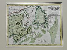 Map of Newfoundland, Acadia and Nova Scotia, c. 1747