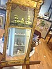 Antique Early 19th Century Reverse on Glass Painting Frame and Mirror